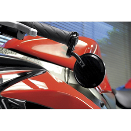 Powerstands Racing Bar End Mirror - Giorgio - BikeMaster Folding Bar End Mirrors - Black