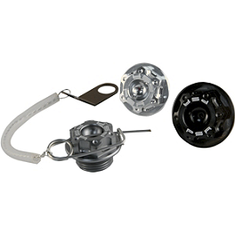 Powerstands Racing Oil Filler Cap Kit - 1999 Kawasaki ZX600 - Ninja ZX-6R BikeMaster Aluminum Magnetic Oil Drain Plug