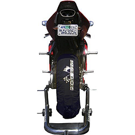 Powerstands Racing Tire Warmers - 2008 Kawasaki ZR1000 - Z1000 Powerstands Racing Big Mike Triple Tree Front Stand With Pin