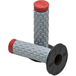 Pro Taper Pillow Top Grips - Twist Throttle - Ride Engineering Banjo Bolts - Red