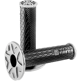Pro Taper Dual Compound Grips - Twist Throttle - Pro Taper Round Handlebar Pad - 8.6