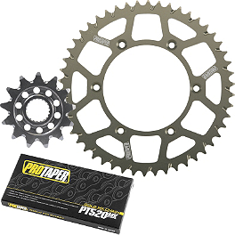 Pro Taper Chain And Sprocket Kit - 2008 Yamaha WR450F Sunstar Chain & Aluminum Sprocket Combo