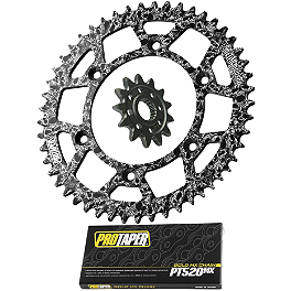 Pro Taper Chain and Metal Mulisha Sprocket Kit - Acerbis Swing Arm Rub Plate - White