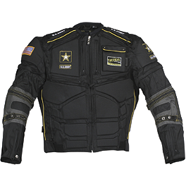 Power Trip U.S. Army Flak Jacket - Teknic Rage Textile/Leather Jacket