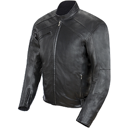 Power Trip Graphite Jacket - River Road Alloy Leather Jacket