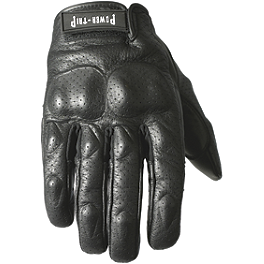 Power Trip Intercooled Gloves - Power Trip Jet Black Perforated Gloves