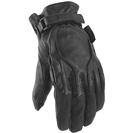 Power Trip Jet Black Gloves - River Road Rally Leather Gloves