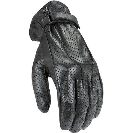 Power Trip Jet Black Perforated Gloves - Main