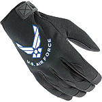 Power Trip US Air Force Halo Gloves - Powertrip Shorty Motorcycle Gloves