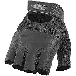 Power Trip Vented Graphite Gloves - River Road Carlsbad Shorty Leather Gloves