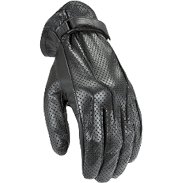 Power Trip Women's Perforated Jet Black Gloves - Power Trip Jet Black Perforated Gloves