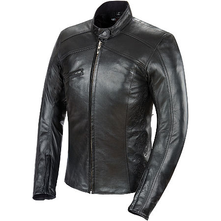Power Trip Women's Leather Scarlet Jacket - Main