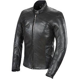Power Trip Women's Leather Scarlet Jacket - Cortech LNX Ladies Leather Jacket