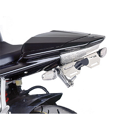 Puig Universal Fender Eliminator Kit With Signal Mounts - Naked New Generation Windscreen - Dark Smoke