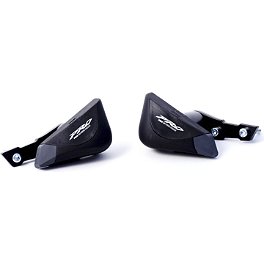 Puig Pro Frame Sliders - Black - 2009 Triumph Daytona 675 Puig Z Racing Windscreen - Dark Smoke