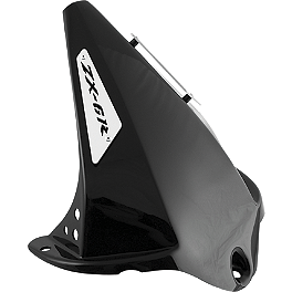 Puig Rear Tire Hugger - Black - Puig Z Racing Windscreen - Dark Smoke