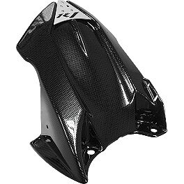 Puig Rear Tire Hugger - Carbon Look - 2010 Kawasaki ZX1000 - Ninja ZX-10R Puig Z Racing Windscreen - Dark Smoke