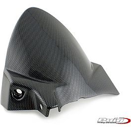 Puig Rear Tire Hugger - Carbon Look - 2008 Aprilia Shiver 750 Puig Rear Tire Hugger - Black