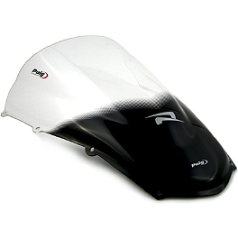 Puig Racing Windscreen - Clear - Puig No Mod Crash Pads - Red