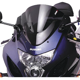 Puig Racing Windscreen - Dark Smoke - 2011 BMW K 1300 S Zero Gravity Double Bubble Windscreen