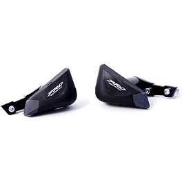 Puig Replacement Slider Caps - 2012 Yamaha FZ6R Puig Racing Windscreen - Smoke