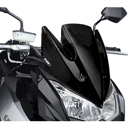 Naked New Generation Windscreen - Black - Kawasaki Genuine Accessories Wind Deflector - Smoke