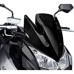 Naked New Generation Windscreen - Black - Puig Motorcycle Windscreens and Accessories