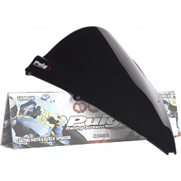 Puig Racing Windscreen - 2mm Clear - 2010 Aprilia RSV4 R Puig Racing Windscreen - Smoke