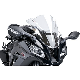 Puig Racing Windscreen - 2mm Clear - 2012 Kawasaki ZX1000 - Ninja ZX-10R Puig Racing Windscreen - Smoke
