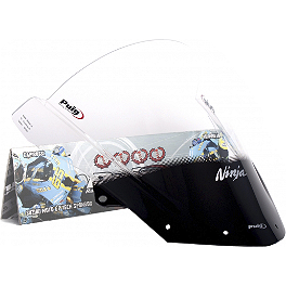 Puig Racing Windscreen - 2mm Clear - Puig Z Racing Windscreen - Dark Smoke