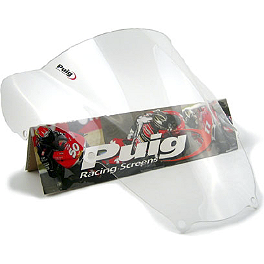 Puig Racing Windscreen - 2mm Clear - 2001 Suzuki GSX-R 600 Puig Rear Tire Hugger - Black