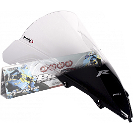 Puig Racing Windscreen - 2mm Clear - 2009 Yamaha YZF - R1 Puig Z Racing Windscreen - Clear