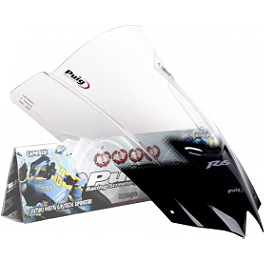 Puig Racing Windscreen - 2mm Clear - 2011 Yamaha YZF - R6 Puig Z Racing Windscreen - Clear