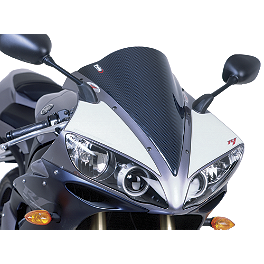 Puig Racing Windscreen - Carbon Look - 2011 Suzuki GSX1300R - Hayabusa Puig Standard Windscreen - Dark Smoke
