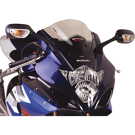 Puig Racing Windscreen - Clear - 2011 Suzuki GSX-R 750 Zero Gravity Double Bubble Windscreen