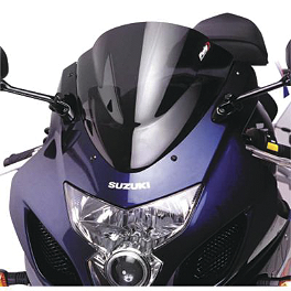 Puig Racing Windscreen - Dark Smoke - 2006 Suzuki SV1000S Zero Gravity Double Bubble Windscreen