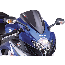 Puig Racing Windscreen - Dark Smoke - 2011 Suzuki GSX-R 600 Two Brothers M-2 Black Series Full System Exhaust - Carbon Fiber