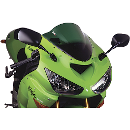 Puig Racing Windscreen - Green - 2010 Kawasaki ZX1000 - Ninja ZX-10R Puig Z Racing Windscreen - Dark Smoke