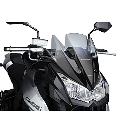 Naked New Generation Windscreen - Smoke - Kawasaki Genuine Accessories Wind Deflector - Smoke