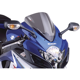 Puig Racing Windscreen - Smoke - 2000 Suzuki GSX-R 750 Zero Gravity Double Bubble Windscreen