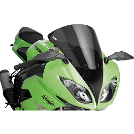 Puig Standard Windscreen - Dark Smoke - 2009 Kawasaki ZX1000 - Ninja ZX-10R Puig Z Racing Windscreen - Clear