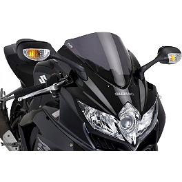 Puig Standard Windscreen - Smoke - 2010 Yamaha YZF - R6 Puig Rear Tire Hugger - Black