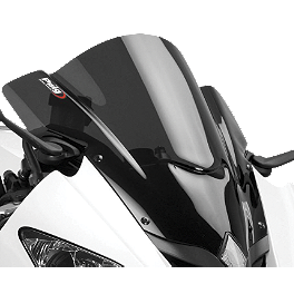 Puig Z Racing Windscreen - Dark Smoke - 2012 Triumph Daytona 675 Puig Z Racing Windscreen - Clear
