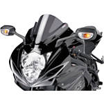 Puig Z Racing Windscreen - Dark Smoke - Yamaha Motorcycle Windscreens and Accessories