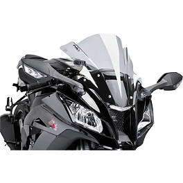 Puig Z Racing Windscreen - Smoke - 2012 Honda CBR250ABS Puig Z Racing Windscreen - Dark Smoke