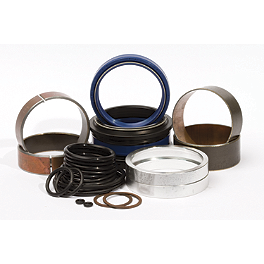 Pivot Works Fork Seal & Bushing Kit - 2005 Suzuki RM125 Pivot Works Swing Arm / Shock / Linkage Bearing Combo