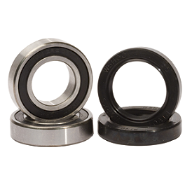 Pivot Works Front Wheel Bearing Kit - 1990 Kawasaki KX125 Pivot Works Swing Arm / Shock / Linkage Bearing Combo