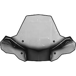 PowerMadd Cobra Protek Rapid Mount ATV Windshield - PowerMadd Handlebar Power Riser Combo