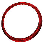 "Pro Wheel Rear Rim - 19"" Red - Dirt Bike Rims and Spokes"