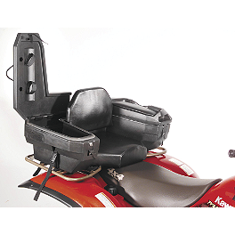 Quadboss Duo Rear Luggage - Black - Quadboss Quick Release Universal Windshield With Headlight Cutout